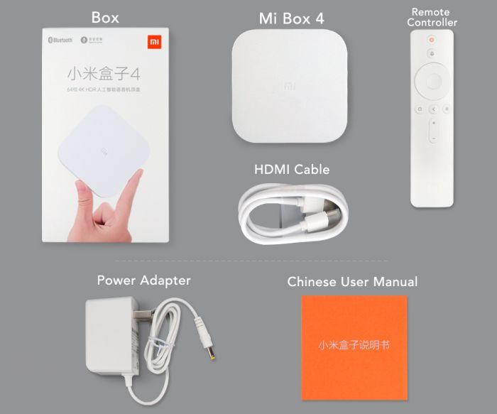 contenu xiaomi mi box 4