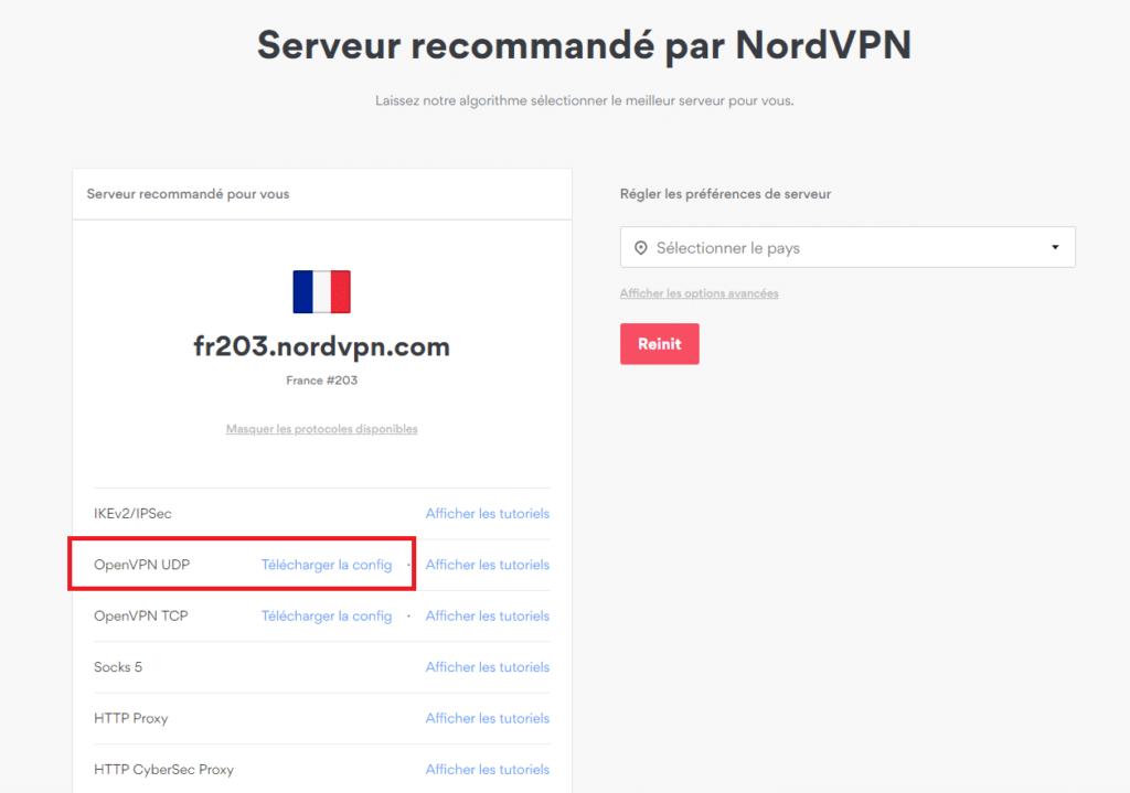 telecharger configuration serveur openvpn nordVPN