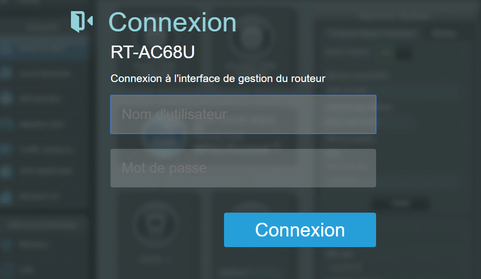 interface gestion routeur asus
