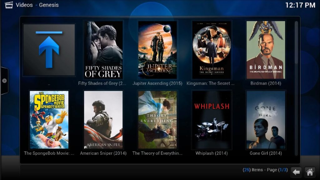 kodi streaming movies