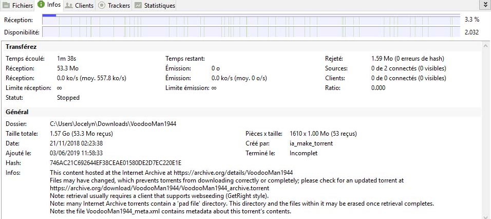 client utorrent info