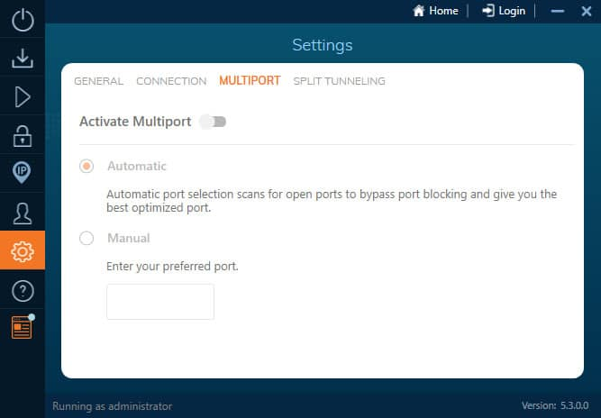 Ivacy multiport option