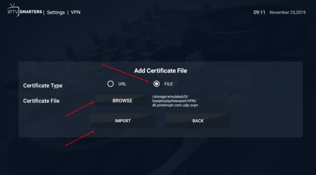 add file ovpn smarters