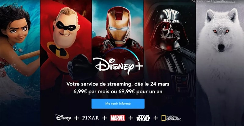 prix du Disney plus en France