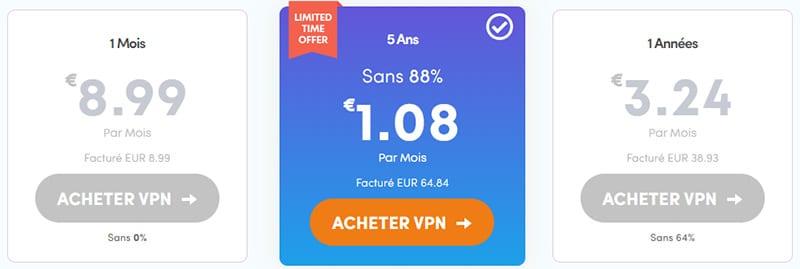 tarif promo vpn ivacy