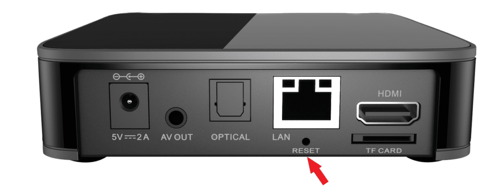 bouton reset arriere mag 410